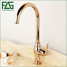 fashion luxury rose gold tall kitchen faucet single hole and