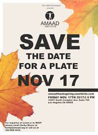 amaad presents save the date for a plate wecanstopstdsla
