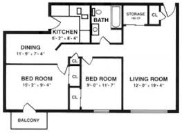 Split Two Bedroom Layout Apartment Layout Carpentersville Il Meadowdale Apartments