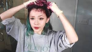 best over the counter demi hair color my new hair color dyeing from green to purple youtube
