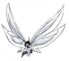 cute small fairy shaped tattoo design sketch tattoomagz