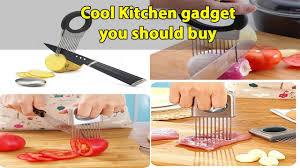 kitchen gadgets deal vegetable holder onion potato cutter