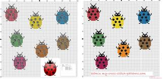 cross stitch pattern design software small and simple colored ladybugs cross stitch pattern free 20x23