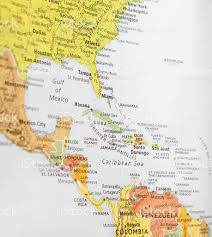 Central America And Caribbean Map by Map Of Central America Stock Photo 183758513 Istock