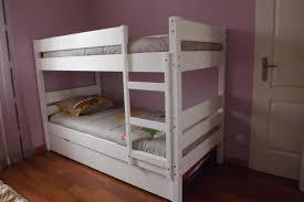 fabriquer tiroir sous lit pack lit superposé enfant 1 2 3 blanc 90x190 cm avec 2 matelas