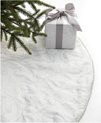 tree skirts a white