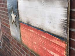 Texas Flag Image Rustic Engraved Wooded American Flag