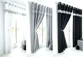 Black And White Striped Curtains Gray Striped Curtains Gray Curtains Living Room Features Gray And