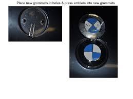 removing the trunk emblem bmw badge bimmerfest bmw forums