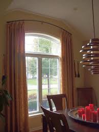 Arched Window Treatments Curved Rod U0026 Sticky Rings Decorating Inspiration Pinterest