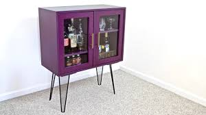 How To Build A Display Cabinet by Diy Modern Bar Cabinet Display Case With Hairpin Legs How To