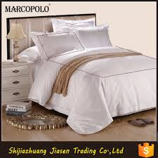 hotel used jacquard bedding set for 5 star hotel bed linen