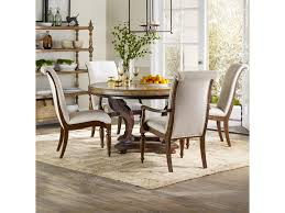 hooker furniture archivist 5 piece dining set with round pedestal