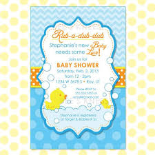 baby shower invitations rubber ducky baby shower invitations