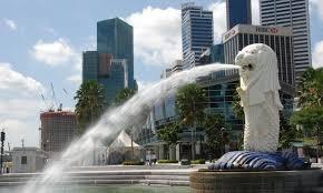 singapore lion photographs of singapore the lion city merlion monument