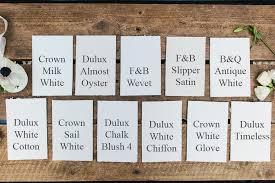 choosing a white paint
