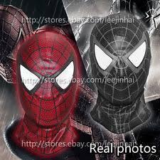 black spiderman mask ebay