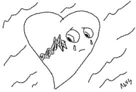 broken heart pencil sketch by pointblankcreativity on deviantart