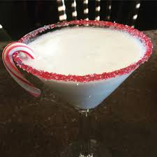 martini peppermint cocktail de noël une boule de neige à chefclub cocktails
