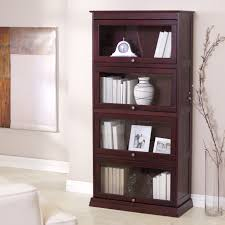 Sauder Bookcase With Glass Doors by Sauder Barrister Bookcase With Glass Doors Artflyz Com