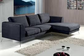 canapé d angle design pas cher canapé d angle axit tissu 100 polyester coloris lugano gris ou