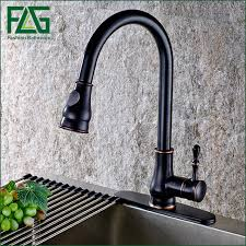 rubbed bronze pull kitchen faucet aliexpress com buy 2016 pull out kitchen faucet rubbed