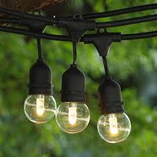 Temporary Lighting String by 100 Ft Black Commercial Medium String Light W Suspender U0026 Led G50