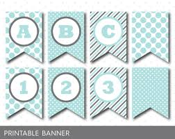 blue mint banner party banner birthday banner baby shower