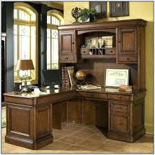 Sauder Harbor View Computer Desk With Hutch Antiqued White Sauder Desk With Hutch Bethebridge Co