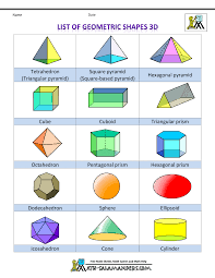 printable 3d shapes