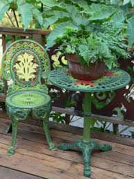 Repainting Metal Patio Furniture - paint a victorian outdoor chair in a multi colored painted lady