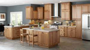 Wooden Cabinets For Kitchen Most Outstanding Blue Kitchen Colors With Medium Wood Cabinets