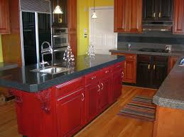 furniture wooden red kitchen cabinet refacing matrials with black