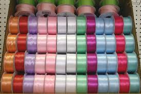 wide satin ribbon wide satin ribbon pastel colours box 120 spools 0 79 sp