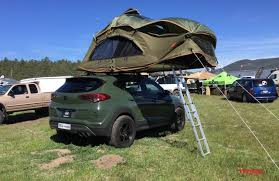 overland jeep tent hyundai tucson overland roof tent the fast lane truck