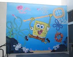Paint By Number Mural by Cartoon Snap Giant Spongebob Wall Painting