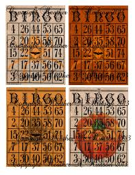vintage halloween not game bingo cards digital collage sheet