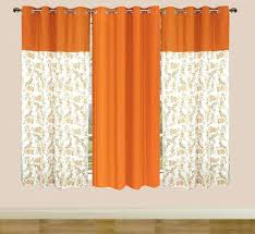 Burnt Orange Curtains Orange Window Treatments Retro Orange Curtains Vintage Sheer Voile