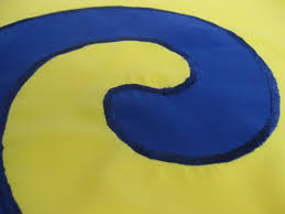 Blue Flag With Yellow Circle The Karmapa Dream Flag Is The Victorious Flag Of The Buddha U0027s
