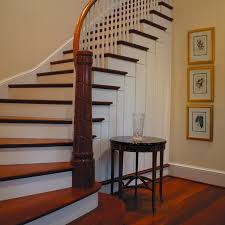 curved staircase wainscoting 7984
