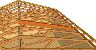 how to turn flat engineered roof truss system into cathedral