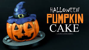 How To Make Halloween Cake by How To Make A Halloween Pumpkin Cake Laura Loukaides Youtube