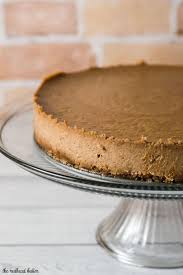 apple butter cheesecake with gingersnap crust by the redhead baker