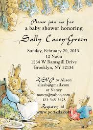 Invitation Cards For Baby Shower Peter Rabbit Baby Shower Invitations Kawaiitheo Com