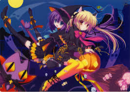 anime halloween backgrounds halloween nekomimi artwork anime girls 2792x1983 wallpaper free