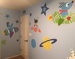 kids murals by dana scottsdale muralist interior design murals dog and rocketship space nursery wall murals for kids