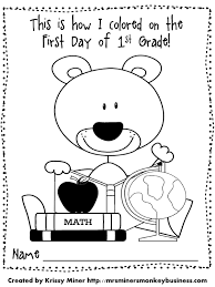 First Grade Math Coloring Worksheets First Day Of Coloring Pages Getcoloringpages Com
