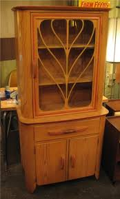 1950s oak china cabinet sold white trash nyc