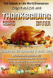 thanksgiving dinner polski klub na florydzie american