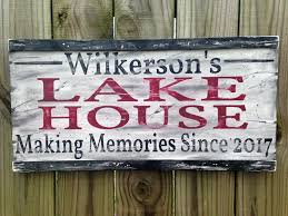personalized lake house sign custom lake house sign family lake